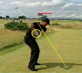 Tiger Woods analysis at British Open - Swing Plane Angle
