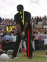 Tiger Woods golf stance