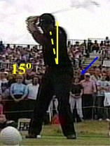 Tiger Woods backswing