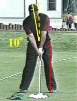 Tiger Woods golf stanceg training