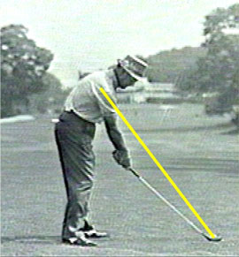 Golf swing analysis Sam Snead golf grip